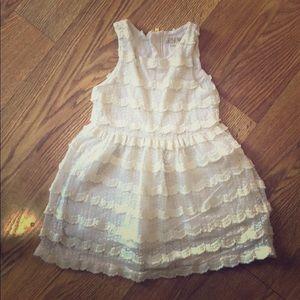 White lace 2T dress